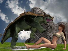 Barefoot Dancer Slays Dragon 2 by XNS