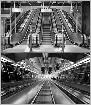 Escalators by Pajunen