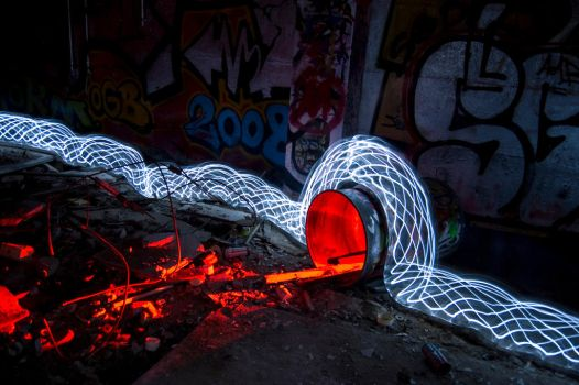 Lightpainting - Pollution by OrangeUtan