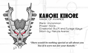 The Mask of Avarax (Kanohi Kihore) by Llortor