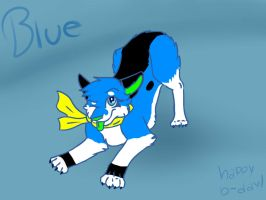 Blu. .:Gift:. by mistyfeather2832