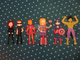 avengers paper cut outs by the-lady-from-mars