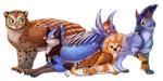 Commission    Four Feathered Friends by Fainalotea