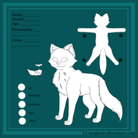 cat reference sheet template by Sungleam