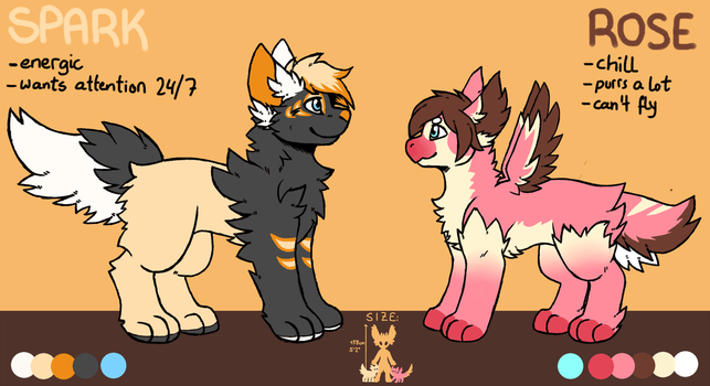 Reference Sheet: Spark and Rose by MlKADO