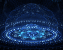 Blue Fountain - Wallpaper by Pyritie