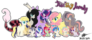 Twilight X Fluttershy Family by karsisMF97