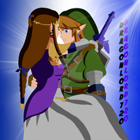Link Carrying Zelda by DragonLord720