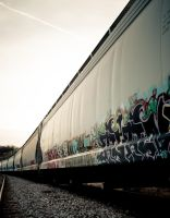 Graffiti Train by LeftSideOfRight