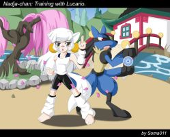 Nadja and Lucario by soma011