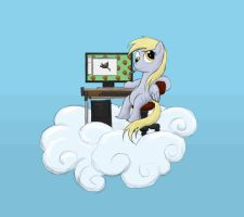 Derpy Does Art Using a Wacom Tablet by Bakuel