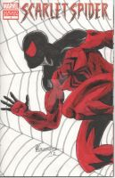 Scarlet Spider Sketch RIPBen Reilly  - Front Cover by chrismas-81