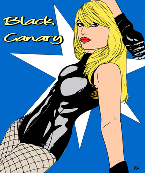 Black Canary Colored by lonegunmen