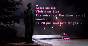 Castiel Valentines Day Card by XcrazyBloodsuckerX
