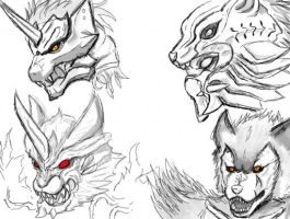 Lycans of Tokusatsu by AkagiGryphon
