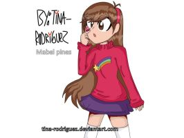 Mabel pines Anime by TINA-RODRIGUEZ