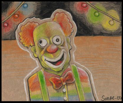 An ill clown by Sampe
