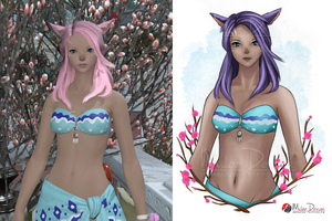 FFXIV Commission Cielle by Milee-Design
