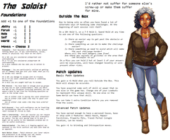 Persona Sheet Prototype - The Soloist by Thrythlind