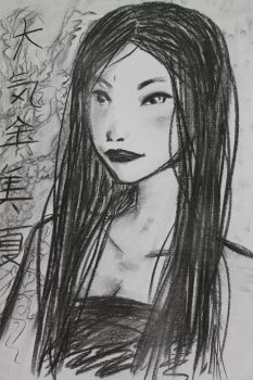 Chinese charcoal by YukimiChan90