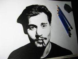 Johnny Depp by Finihous