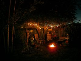 Funky Backyard Space by boxcamera