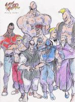 Street Fighter 1 All Rivals by Hellstinger64