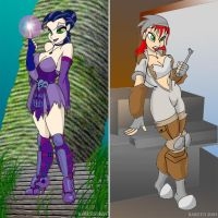Ult. HM:Evil Lyn and Teela by Barsto