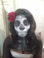 Candy Skull (face paint) by shawnna-ciel
