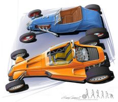 Hot rod evolution no.2. by GaryCampesi