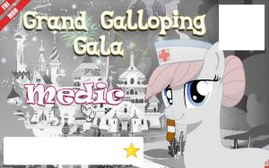 Galacon Ticket art: Medic by Rautakoura