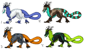 Furry Dragon Adoptables -closed- by Julkkuli
