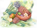 Nature-morte a l ananas by Papercolour