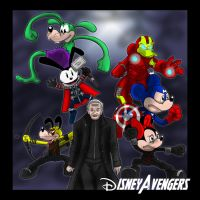 Disney Avengers by PhillieCheesie
