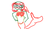 Mermaid Raph by chicailovefoxy