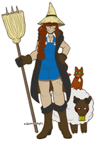 Witch Adopts - 26 - FARMER WITCH by azume-adopts