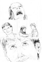 Peter Parker penciled practice pages page five by tomographiser
