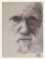 Charles Darwin [shot of copy of my drawing] by artbyrichy