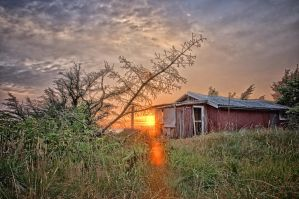 Old House Sunset by Oddersnude