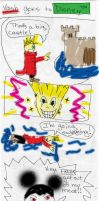 Vash goes to Disney 1 color by GeneveveX