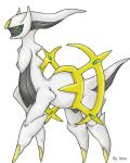 Arceus, the Alpha Pokemon. by Xous54