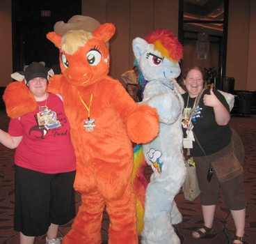 Me with PONIES by PterosaurPony