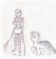 The Lady and Rarity by gizzygizmo