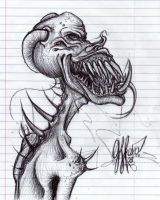 Random Monster Sketch.. by GeeFreak