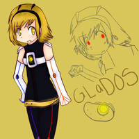 GLaDOS plus Blonde equals by PettyBluez