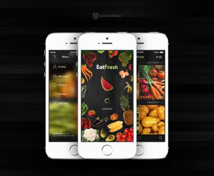 Organic Food Store App Concept by umairulhaque
