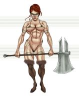 Barbarian Warlord Ginger by Selkirk by carol-colors