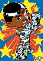 Super Powers Cyborg Art Card by K-Bo. by kevinbolk