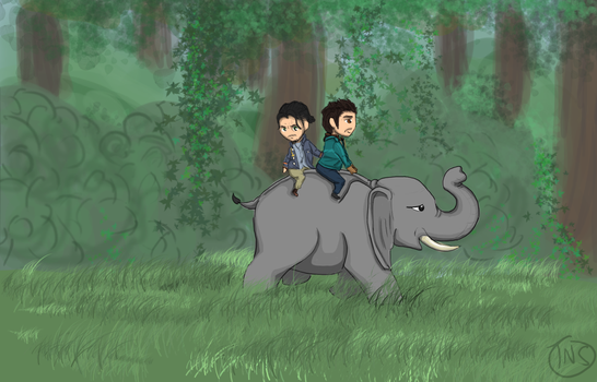 Sabal Ajay and his elephant by TakeNoShit