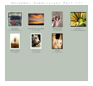 November Submissions Part III by photo-genius